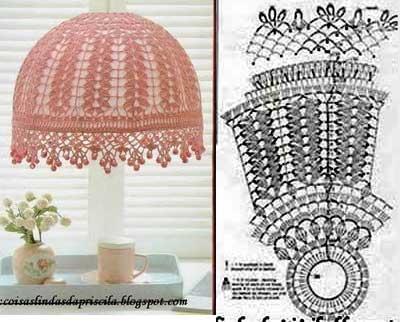 crochet abats jours crochet de f es. Black Bedroom Furniture Sets. Home Design Ideas